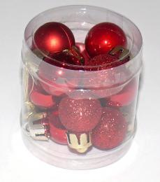 Vánoční plastové koule-červená - zvětšit obrázek