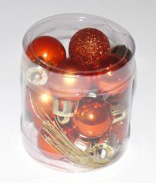 Vánoční plastové koule-oranžová - zvětšit obrázek
