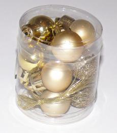 Vánoční plastové koule-zlatá - zvětšit obrázek