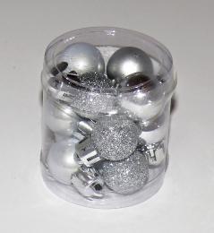 Vánoční plastové koule-stříbrná - zvětšit obrázek
