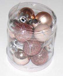 Vánoční plastové koule-měděná - zvětšit obrázek