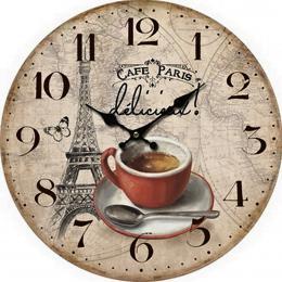 Nástěnné hodiny-cafe Paris - zvětšit obrázek