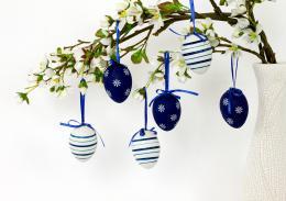 Plastová vejce-modrá, 6ks - zvětšit obrázek