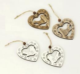 Dřevěné srdce-2ks - zvětšit obrázek