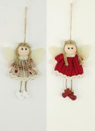 Vánoční andělka látková - zvětšit obrázek