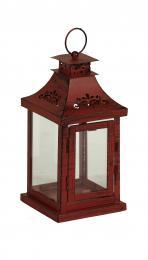 Kovová lucerna-červená - zvětšit obrázek