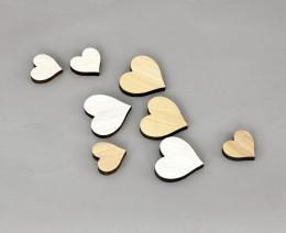 Srdíčka dekorační, 8ks - zvětšit obrázek
