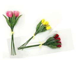 Kytice-tulipán plast,svazek 5ks - zvětšit obrázek