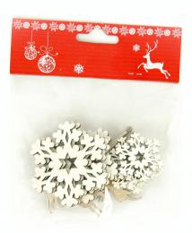 Vánoční dřevěná dekorace,12ks - zvětšit obrázek