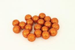 Vánoční kulička-oranžová,20ks - zvětšit obrázek