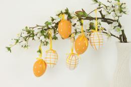 Plastová vejce-oranžová, 6ks - zvětšit obrázek