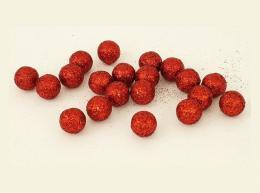 Vánoční kulička-červená,20ks - zvětšit obrázek