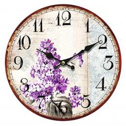 Nástěnné hodiny-šeřík - zvětšit obrázek