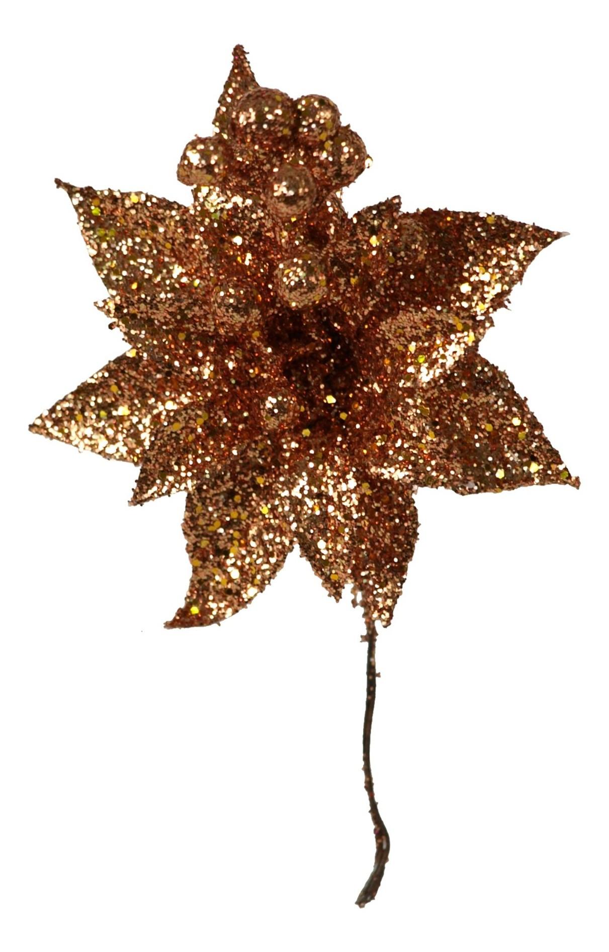 Vánoční růže-měděná, 5ks